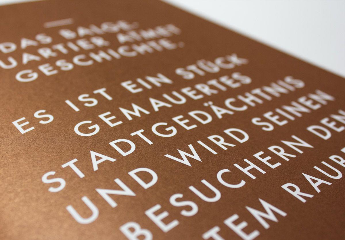 Balgequartier - Broschüre Closeup Text