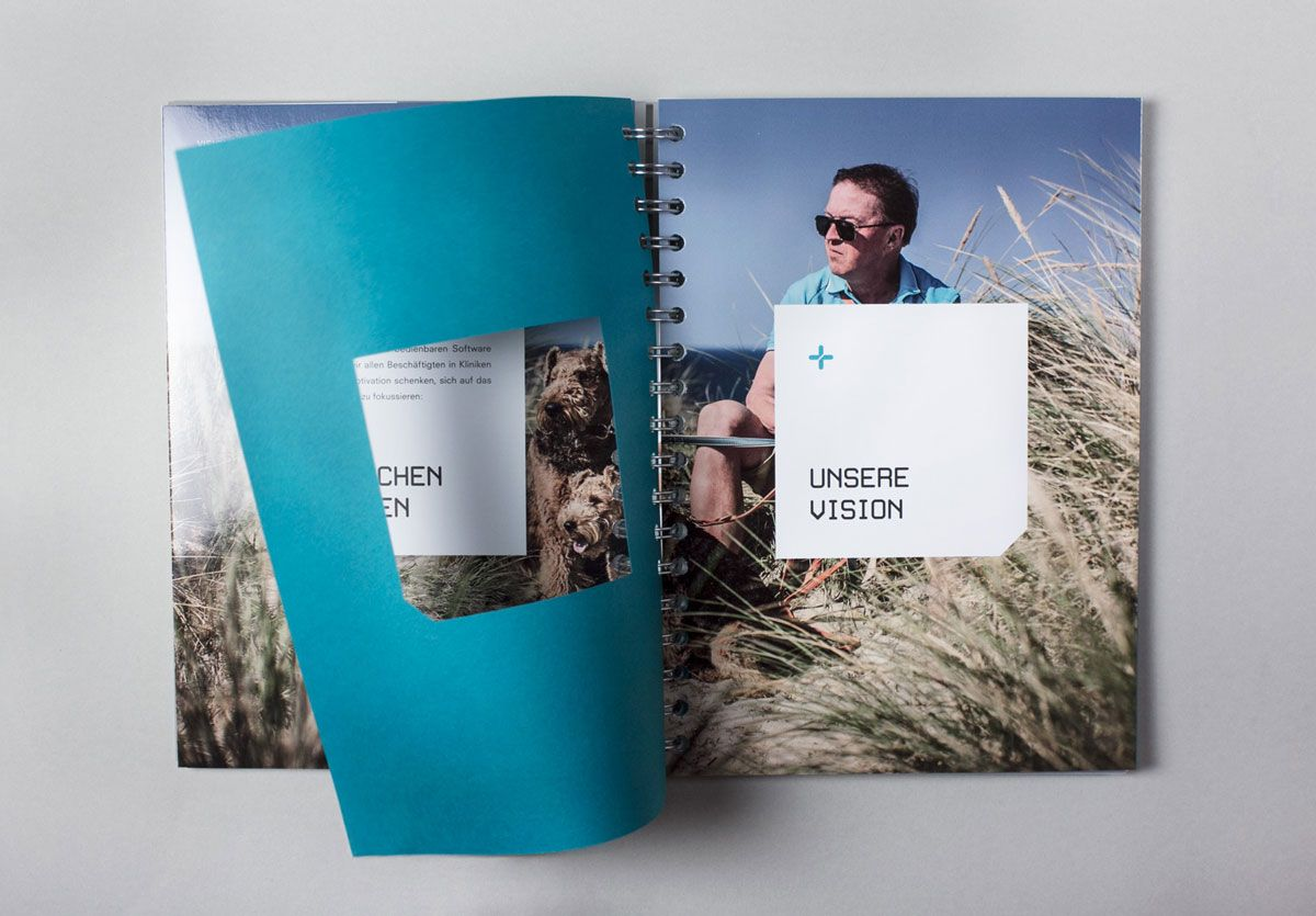 KLAGES & Partner - Brandbook Closeup - Innenansicht