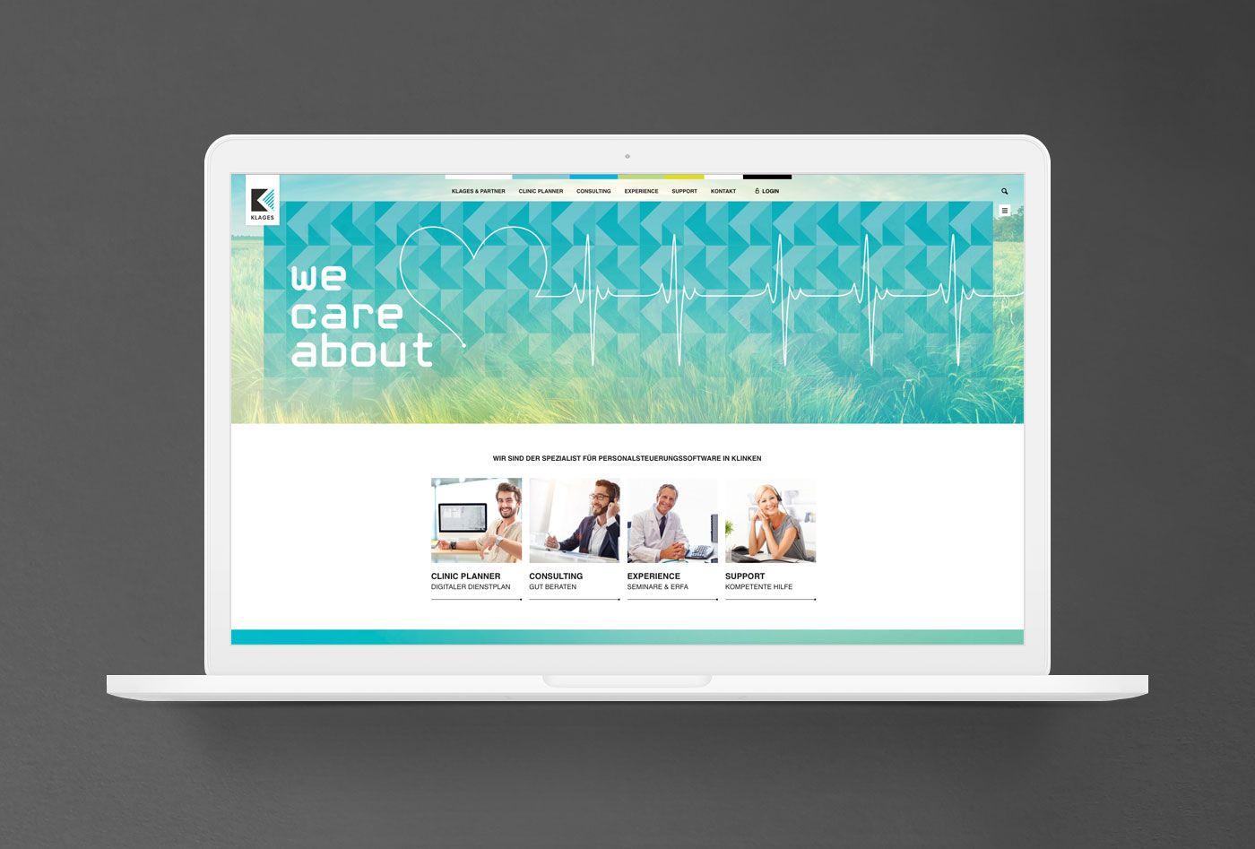 KLAGES & Partner - Website Startseite